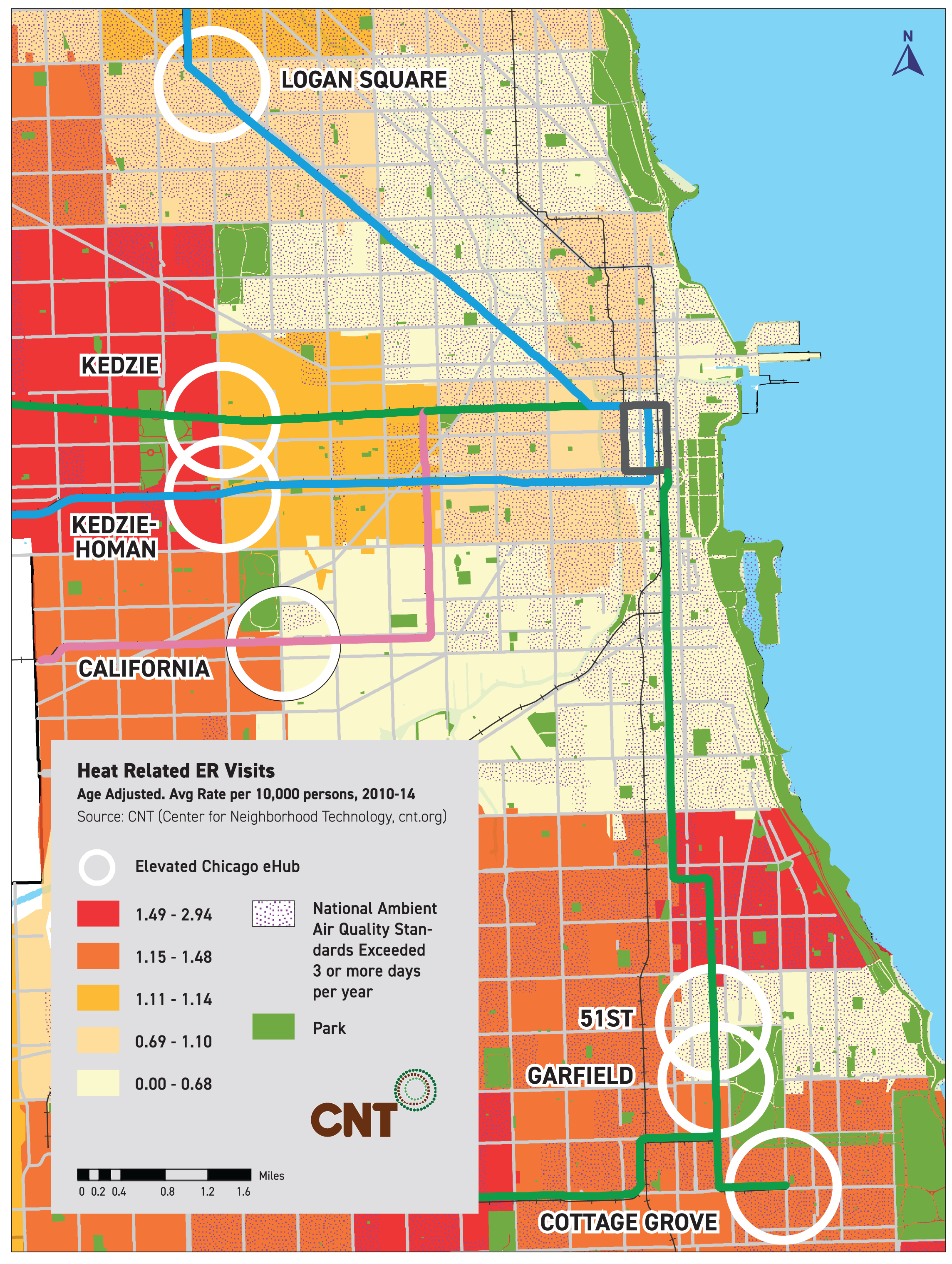 Heat-related Emergency Room Visits – Elevated Chicago on